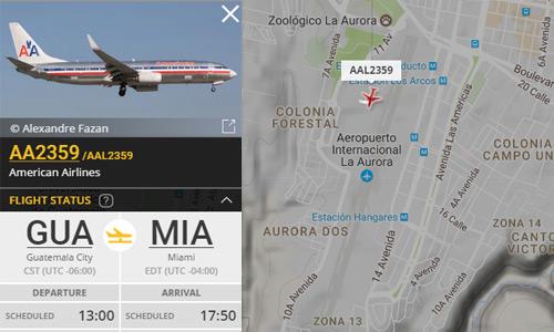 Radar de vuelos en Guatemala