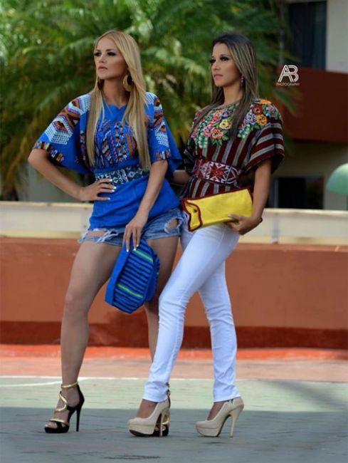 Vestuario moderno con textiles mayas