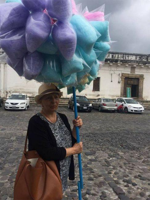 Señora algodones Antigua Guatemala