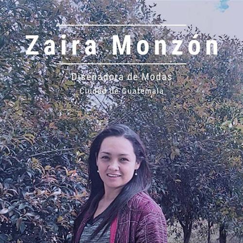 Zaira Monzon - Diseñadora de modas guatemalteca