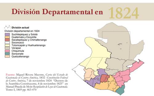 Los departamentos y la construcción del territorio nacional en Guatemala 1825-2002
