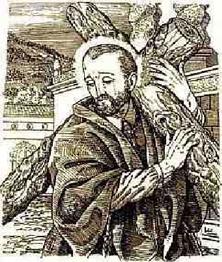 Grabado de la leyenda del Cristo del Santo Hermano Pedro