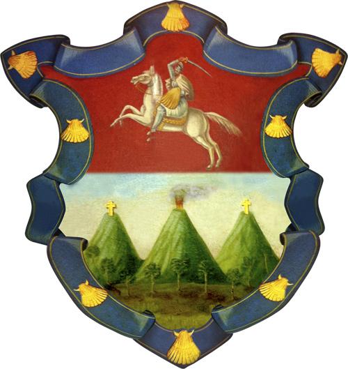 Volcanes en el escudo de armas de Guatemala