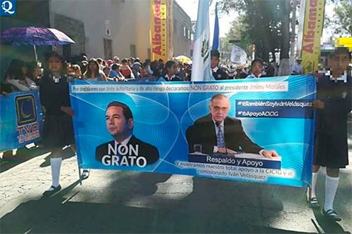 """Gobierno prohíbe mantas de """"Non Grato"""" contra el Presidente."""