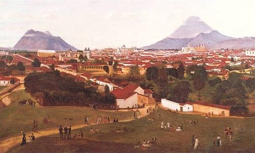 Volcanes Guatemala 1868