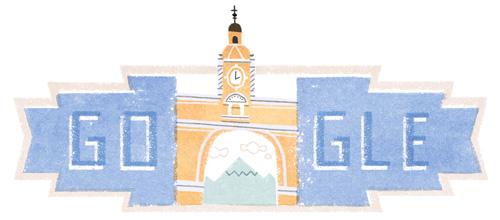 Doodle independencia de Guatemala 2016