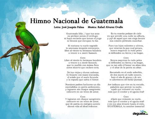 Lamina Himno de Guatemala