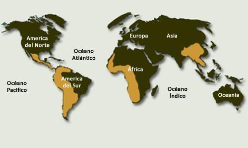 Mapa del hábitat de la Ceiba