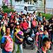 Migrantes hondureños invaden Guatemala.