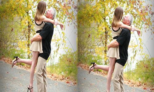 Una mujer de 19 años se casa con un hombre de 62 y exige que respeten su relación.