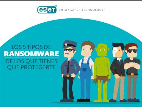 Los 5 tipos de Ransomware más propagados