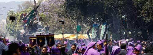 Nazareno de la Justicia de El Calvario recorre el Centro Histórico