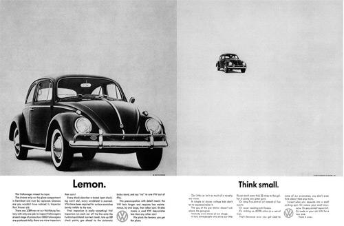 Mejor campaña: Volkswagen Think Small