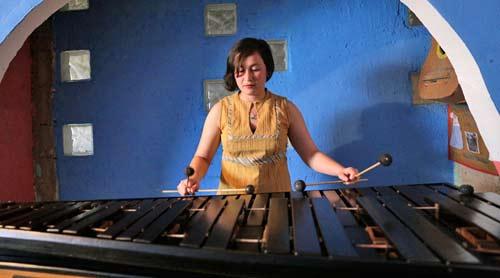 Los jóvenes talentos de la marimba