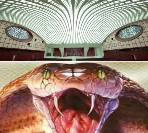 Salon de la serpiente del Papa