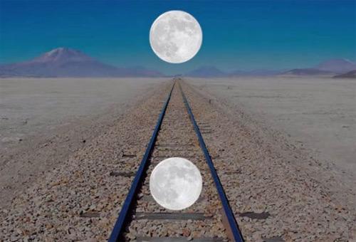 Ilusion Ponzo de la Luna