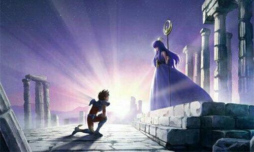 Los Caballeros del Zodiaco - Seiya y Athena