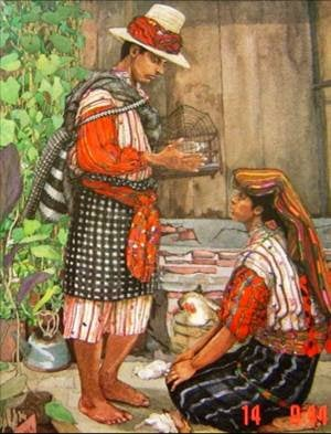 Traje ceremonial de Sololá