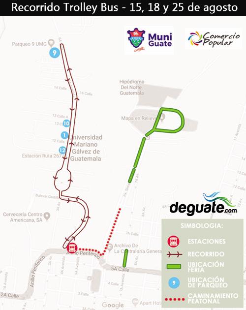 Recorrido Trolley Feria de Jocotenango 2019 Guatemala
