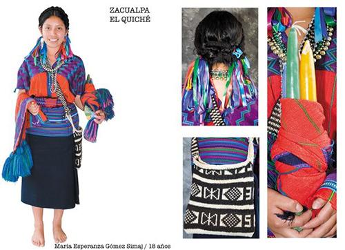 Traje típico de Zacualpa, Quiché