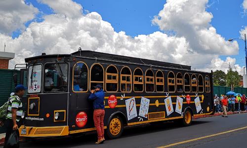Trolley Feria de Jocotenango en Guatemala