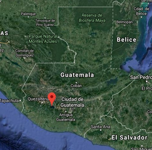 Lago Atitlán Mapa