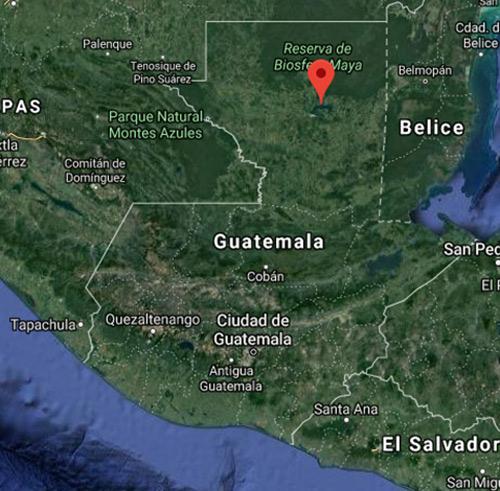 Lago Petén Itzá Mapa