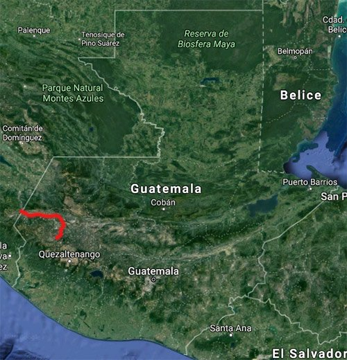Río Cuilco mapa