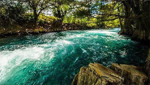 Río Lagartero en Huehuetenango, Guatemala