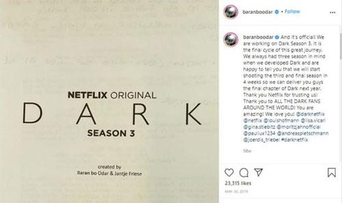 Anuncio fin de temporada Dark 3