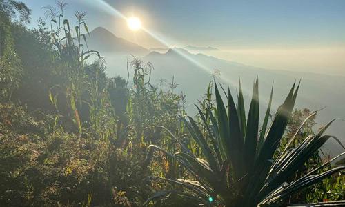 El Tajumulco visto desde Casa Yolanda