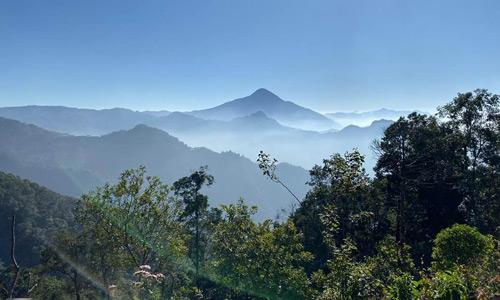 Foto de la vista de los Cuchumatanes desde Casa Yolanda