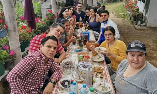 Almuerzo en Casa Yolanda rumbo a la cima del Volcan Tacana