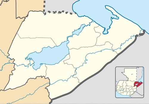 Mapa del Lago de Izabal
