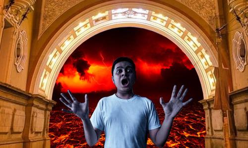 Puerta del infierno Palacio de Correos Guatemala