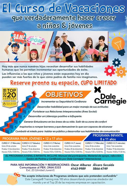 Curso de vacaciones Guatemala 2018 Dale Carnegie