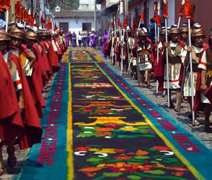 Actividades religiosas durante Semana Santa en Antigua Guatemala