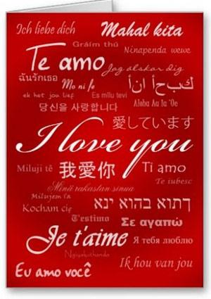 Te amo en diferentes idiomas