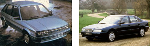 Austin Maestro, 1990 - Rover 600, 1993