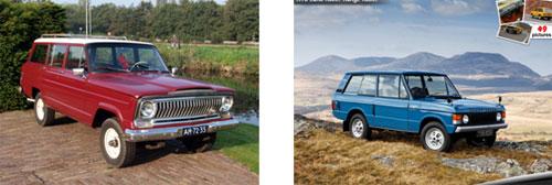 Jeep Wagoneer 1967 -      Range Rover 1970