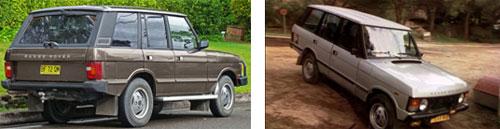 Land Rover Range Rover (4 puertas), 1981  -  Land Rover Range Rover (4 puertas), 1984