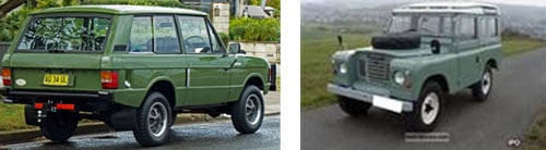 Land Rover Range Rover 1972  - Land Rover Defender, 1980
