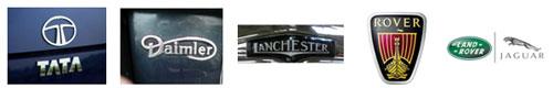 Logo Tata - Logo Daimler -  Logo Lanchester -  Logo Rover