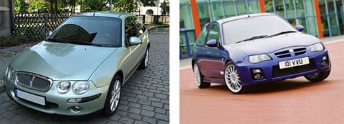 Rover 25, 2000 - MG ZR, 2004