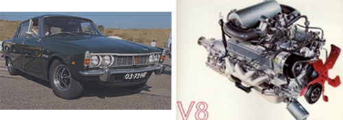 Rover 3500/3500S, 1968 - Motor del Rover 3500 V8