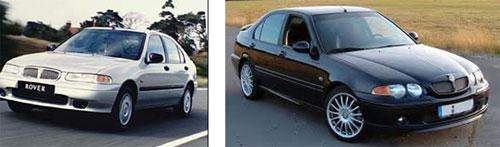 Rover 400, 1995 - Rover 45 2003