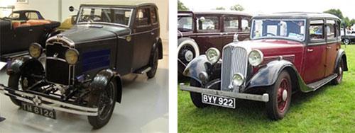 Rover Light Six, 1928    -    Rover 14, 1935