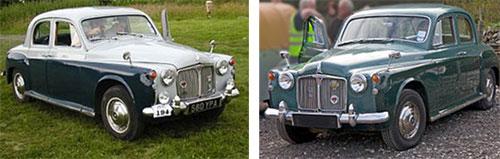 """Rover P4""""90"""", 1959     Rover P4""""100"""", 1960"""
