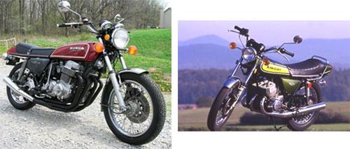Honda 750 cc Four - Kawasaki 500 cc Mach III
