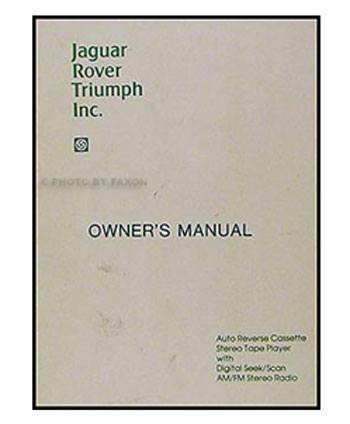 Portada de un manual del propietario. Se agregaba la foto del modelo en la portada y las instrucciones del modelo correspondiente adentro